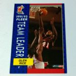 1991-92 Fleer #385 Glen Rice Miami Heat Basketball Card